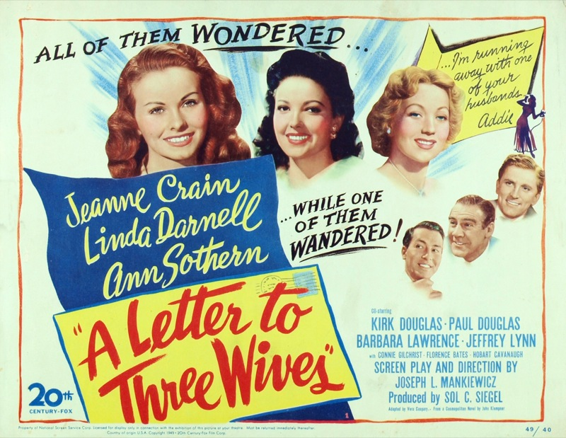 Love Those Classic Movies!!!: A Letter to Three Wives (1949) All of ...