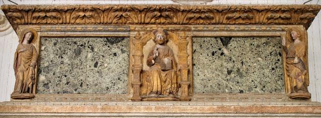 Sarcophagus in the cloister of Santo Stefano, Venice.