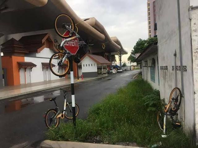 Perkhidmatan basikal Obike menjadi mangsa vandalisme