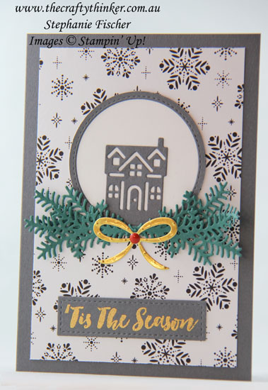 #cardmaking, #stampinup, Hometown Greetings, Christmas card, Xmas, #thecraftythinker, Stampin' Up Australia Demonstrator, Sydney NSW, Christmas Staircase