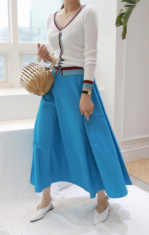 Contrast Glittered Trim Knit Cardigan