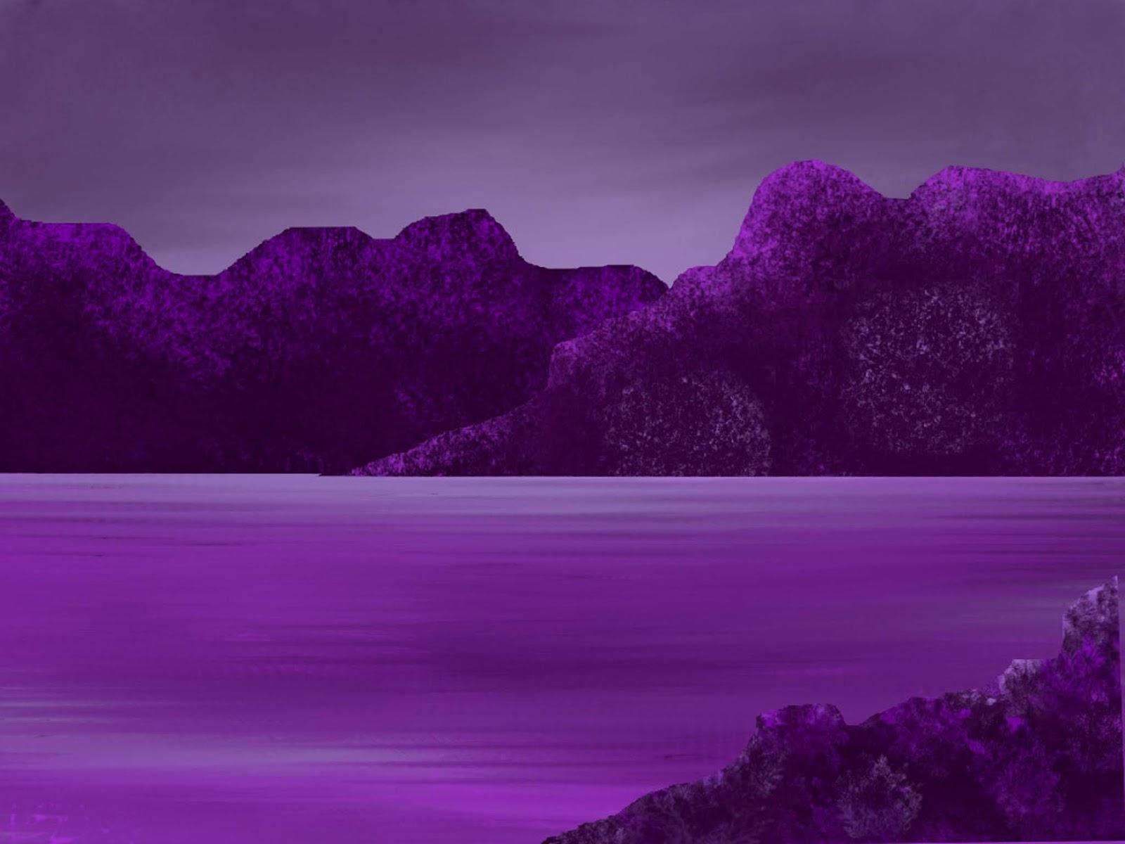 Purple Mountains At Sea