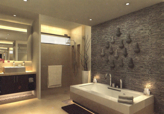 Foto-Bathroom-With-Bathub-Rumah-Tipe-Season