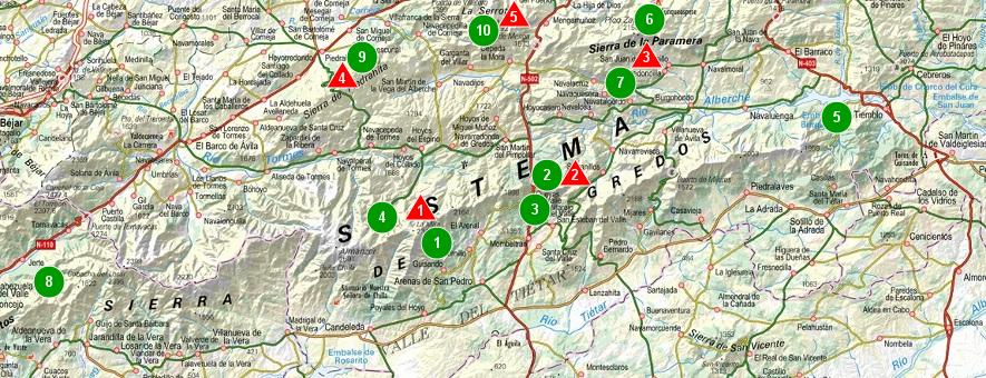 Sierra De Gredos Mapa.Sendas De Burgos Mapa De La Sierra De Gredos