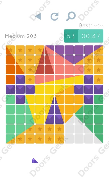 Cheats, Walkthrough for Blocks and Shapes Medium Level 208