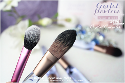 Crystal concealer comparazioni NeveCosmetics Crystal Flawless Brushes