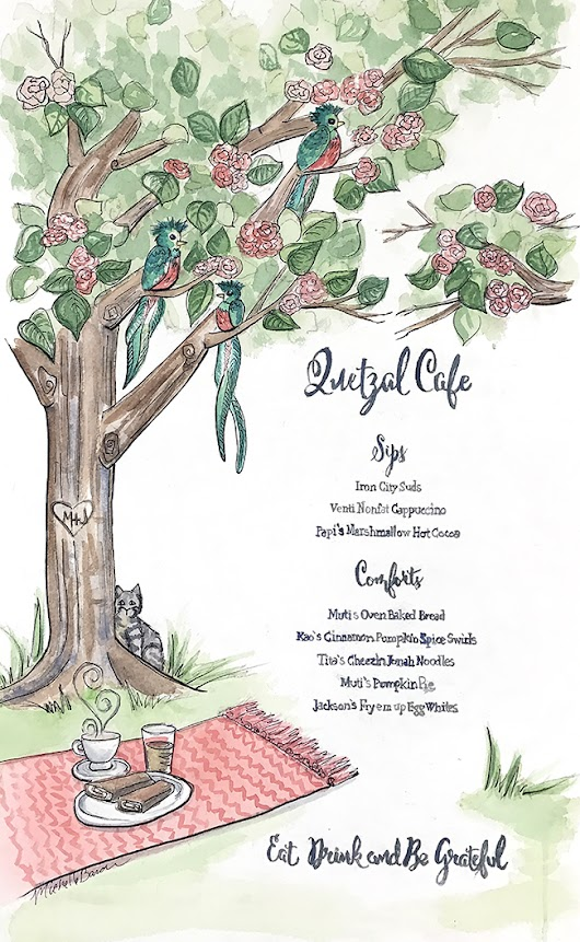The Quetzal Cafe Menu
