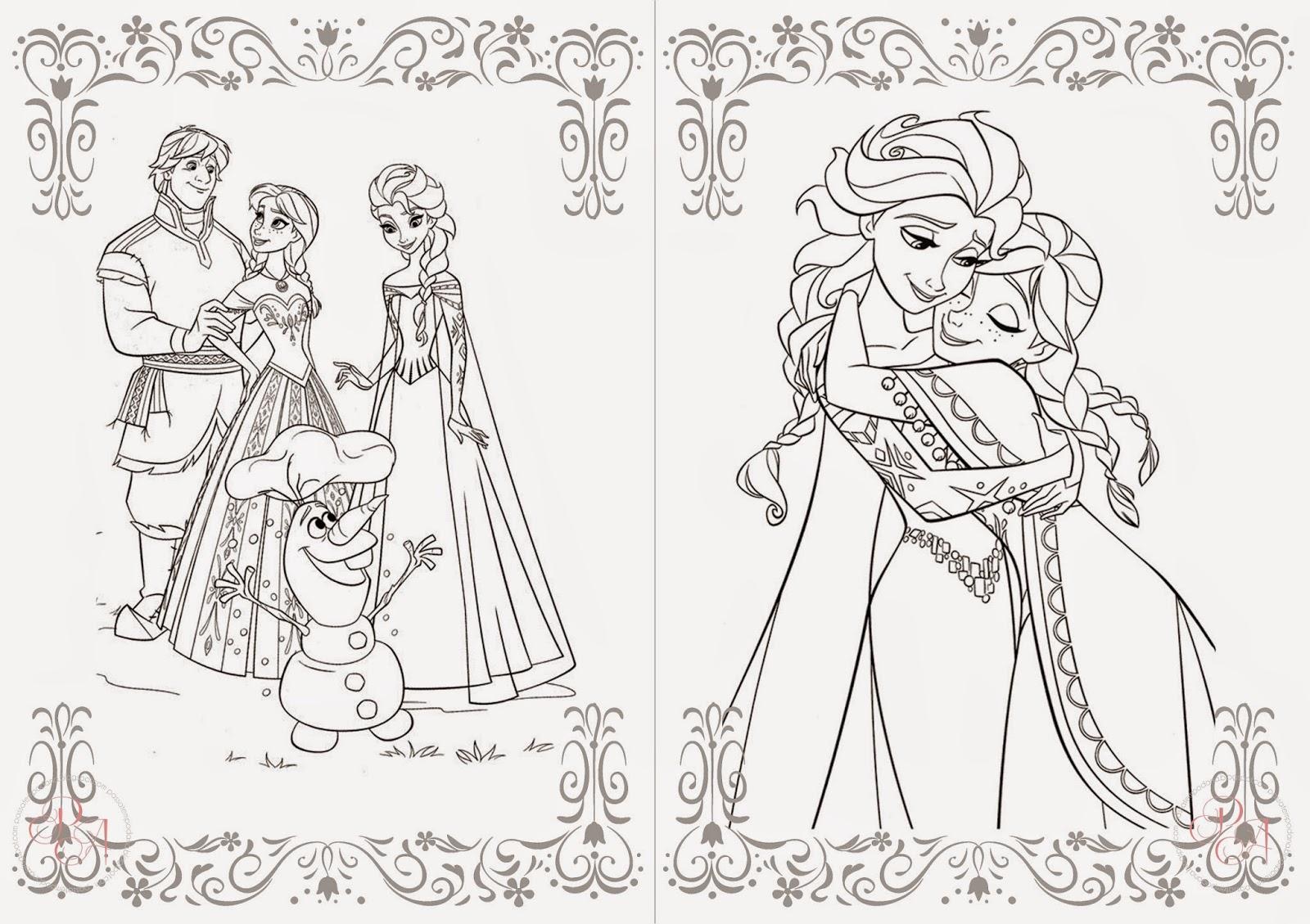 Passatempo Da Ana: Livrinho Para Colorir: Frozen