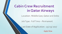 Cabin Crew Recruitment in Qatar Airways