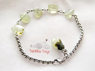 Minlet (Minima Bracelet) with Prehnite by WireBliss
