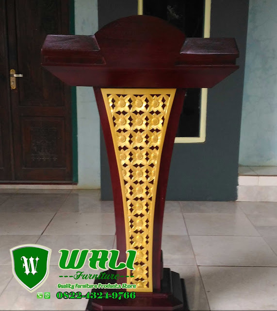 Podium Kayu Jati Multifungsi Untuk Pidato