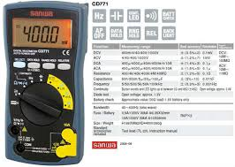 Jual Sanwa Digital Multimeter Cd771 Harga Murah