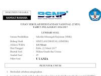Download Soal USBN Simulasi Digital SMK 2017 Beserta Kunci Jawaban