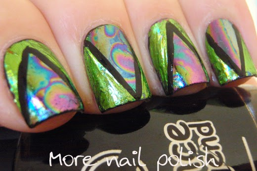 Oil slick on my nails ~ More Nail Polish
