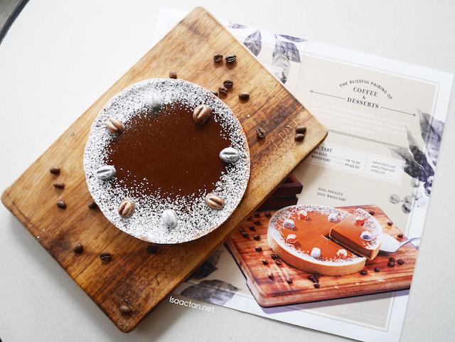 Coffee Tart (single slice - RM12.90, whole tart RM43.90)