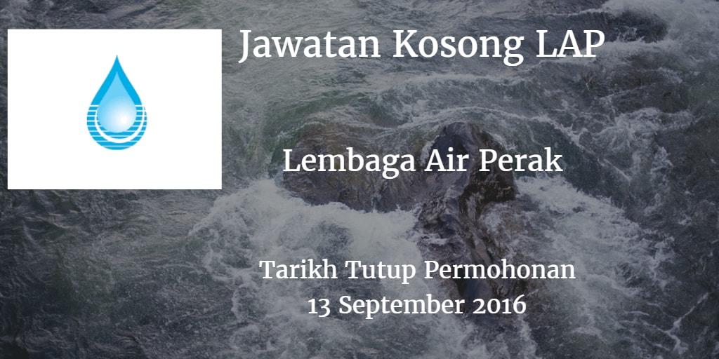 Jawatan Kosong LAP 13 September 2016