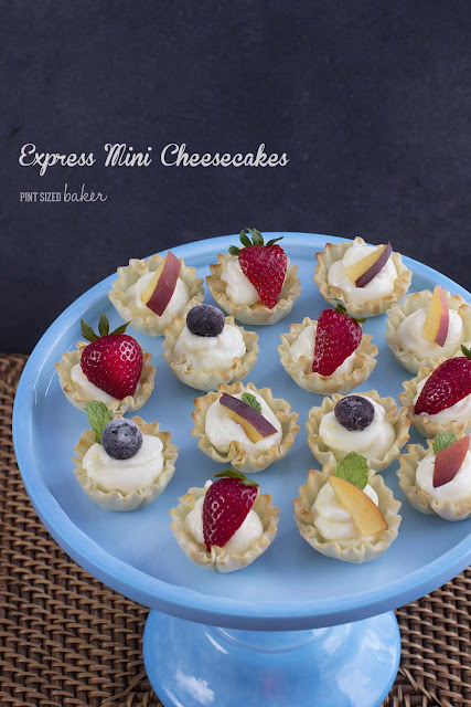 an image linked to a recipe for Express Mini Cheesecake Bites.