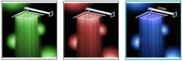 16 Inches Luxury Three Color LED Square Shower Head Faucet