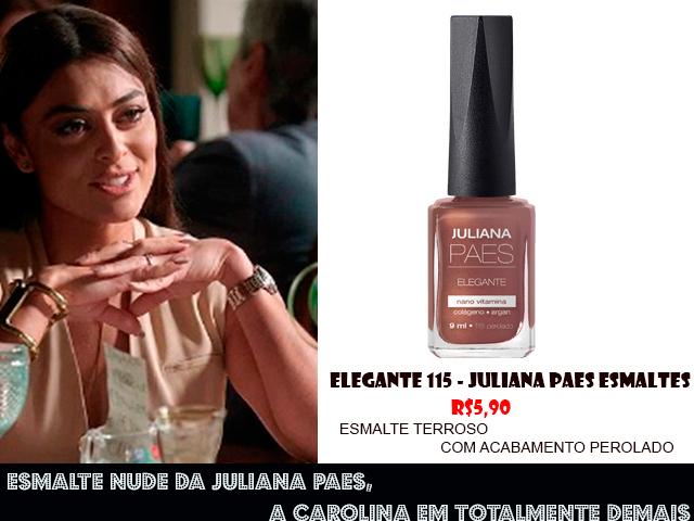 Descubra o esmalte nude de Juliana Paes, a Carolina em Totalmente Demais  (foto: TV Globo/divulgação)