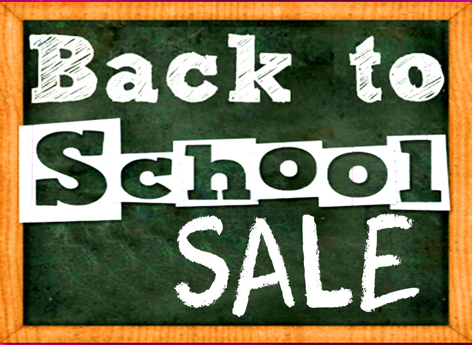 Back to School Sale May 13 to 15, 2016
