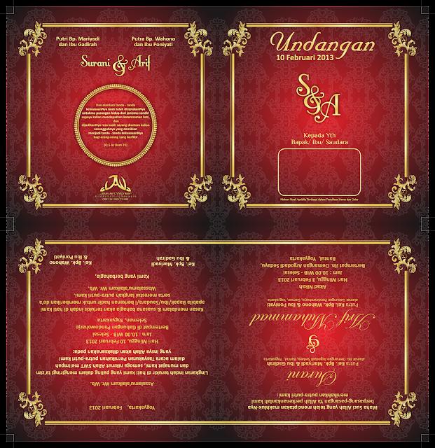 Download Desain Undangan Pernikahan Elegan Format Coreldraw