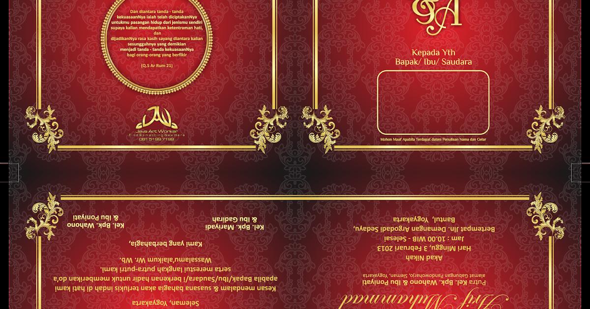 Desain Undangan Pernikahan Elegan Yang Bisa di Edit ...