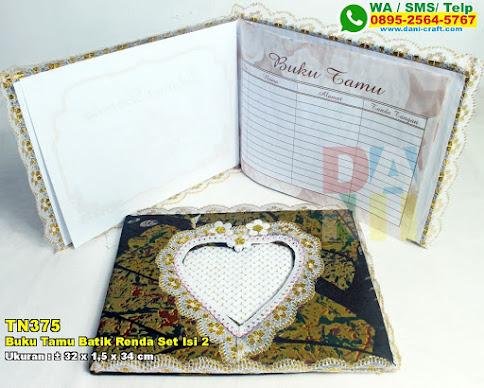 Buku Tamu Batik Renda Set Isi 2