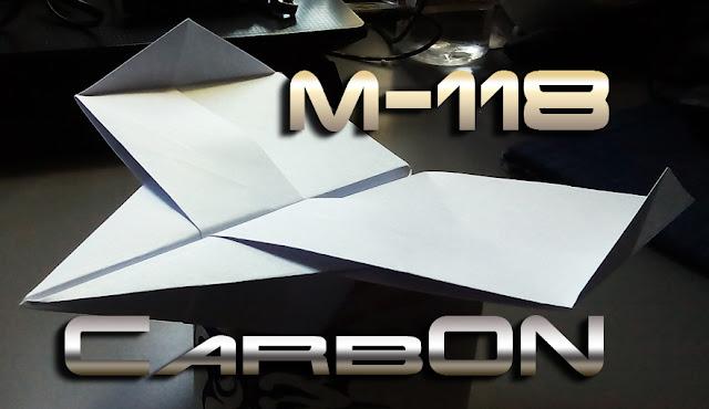 Avión de papel M-118 CarbOn