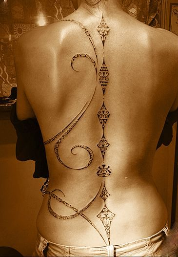 Sexy Back Tattoo For Girls