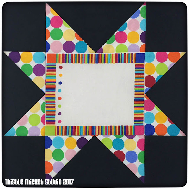 Thistle Thicket Studio, friendship quilt, saw-tooth stars block, quilts, quilting