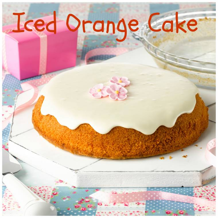 Iced Orange Cake To Try Out Right This Minute Because It Is Delicious!!