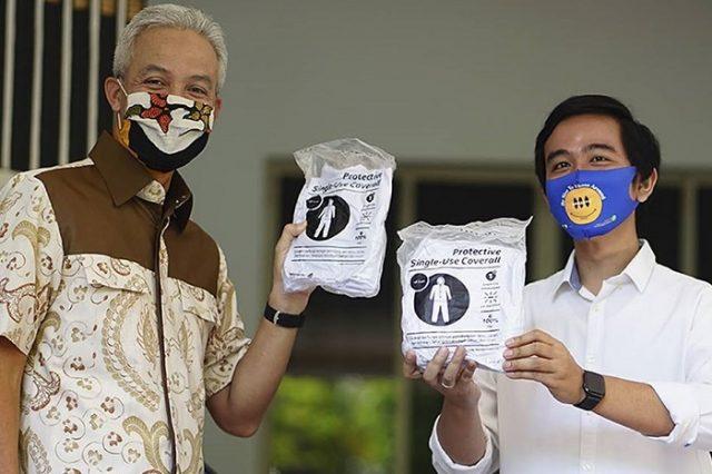 Gibran Rakabuming Raka Serahkan Bantuan APD kepada Pemprov Jateng