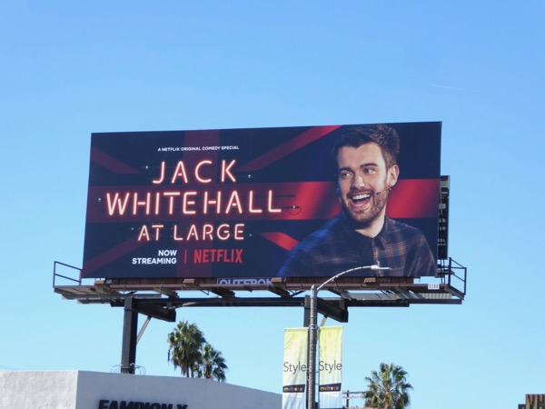 Jack Whitehall at Large billboard