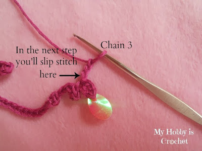 Sequined Crochet Trim/ Necklace Oriental Spirit - Free Pattern + Tutorial