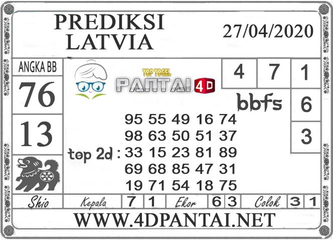 PREDIKSI TOGEL LATVIA PANTAI4D 27 APRIL 2020