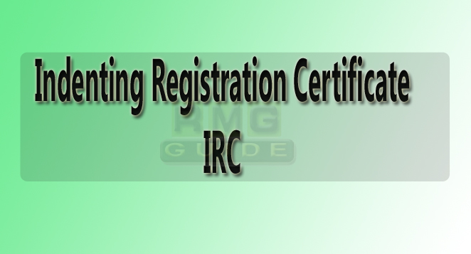 irc certificate fee