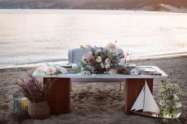 boda en la playa una tarde del mes de Septiembre