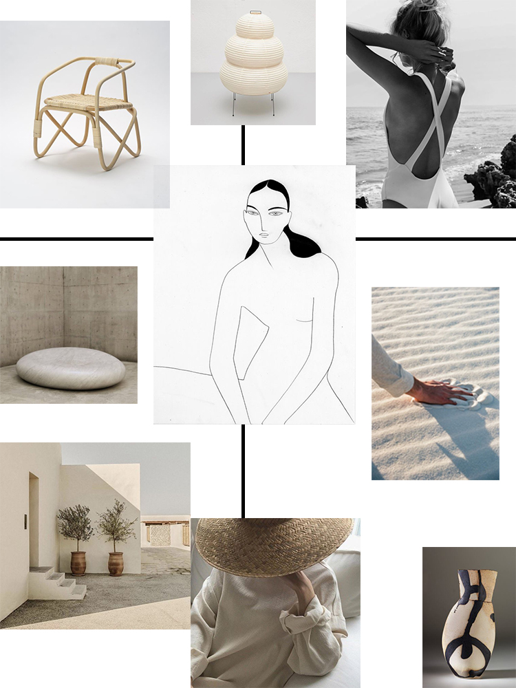 Inspiration moodboard collage curated by Eleni Psyllaki My Paradissi