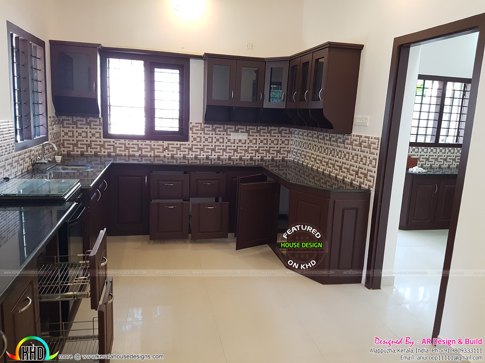 finished kerala home design with interior photos kerala home design and floor plans. Black Bedroom Furniture Sets. Home Design Ideas