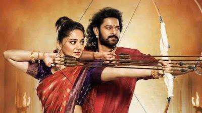 फिल्म 'बाहुबली 2' का पोस्टर में दिखे प्रभास और अनुष्का