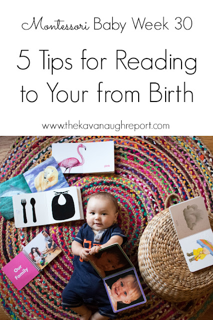 Reading to your baby from birth is a great way to connect to your baby and help them learn. Here are 5 tips to keep in mind when reading to your baby!