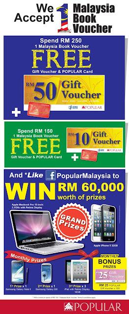 Popular Bookstore Deals 1 Malaysia Book Vouchers 2013 (Baucar Buku 1 Malaysia BB1M)