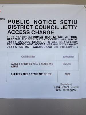 Setiu Jetty Access Charge