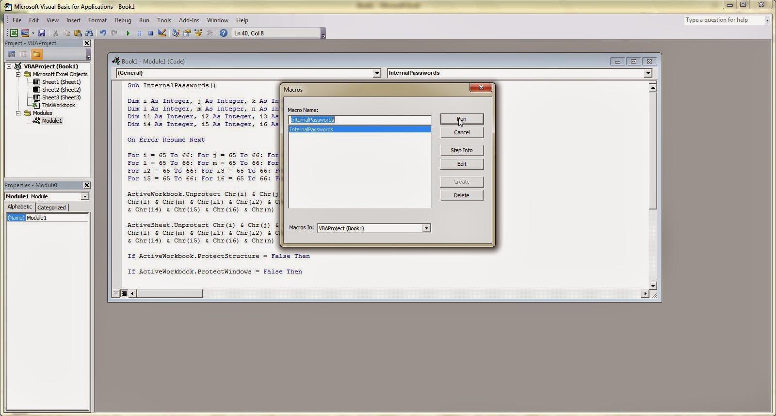 Membuka Worksheet Excel Yang Ter Password Nova Herry Pratama