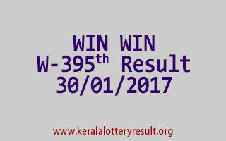 WIN WIN W 395 Lottery Results 30-01-2017