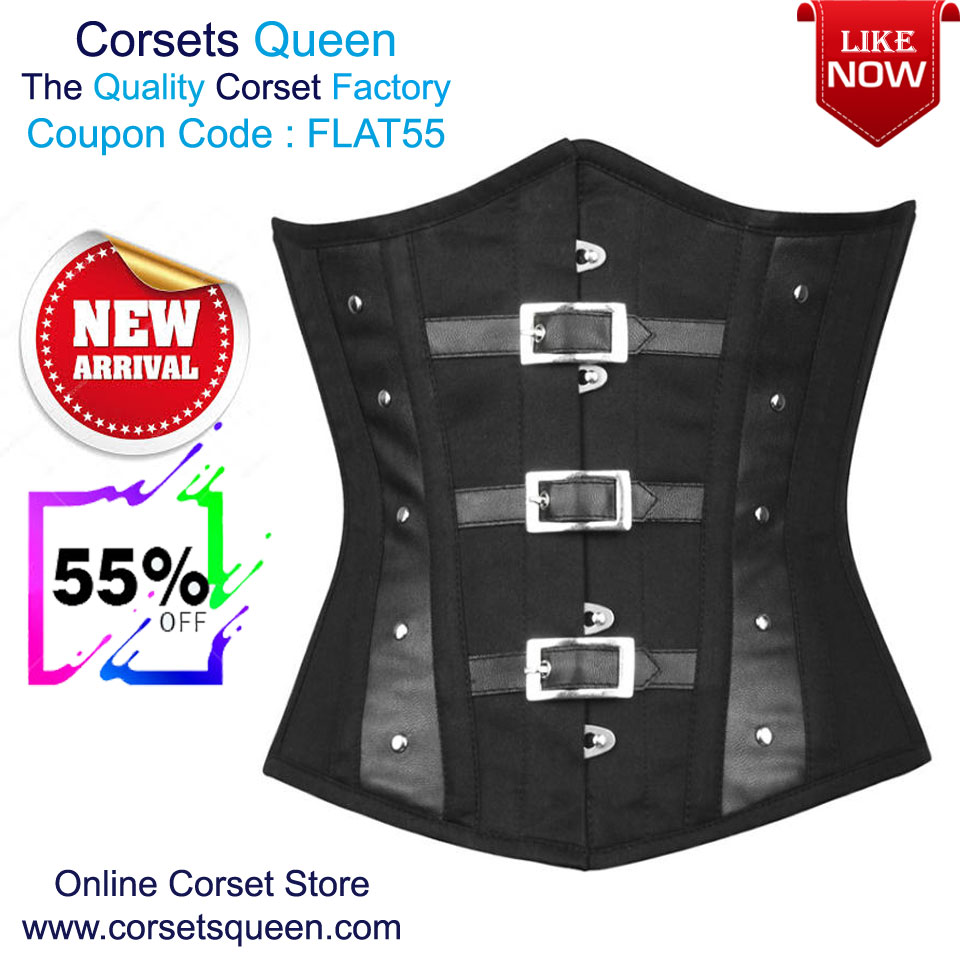 11440c99d40 Waist Training Underbust Corsets - Corsetsqueen.com  Faux Leather ...