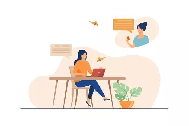 Komunikasi Online Ilustrasi