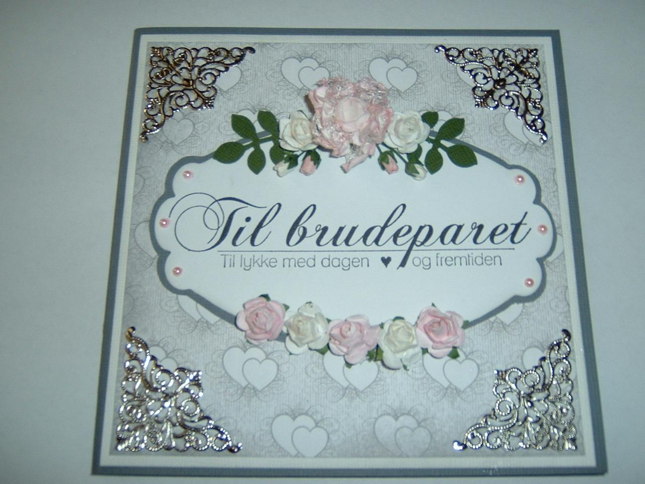 HEGE'S HOBBYKROK: Bryllupskort