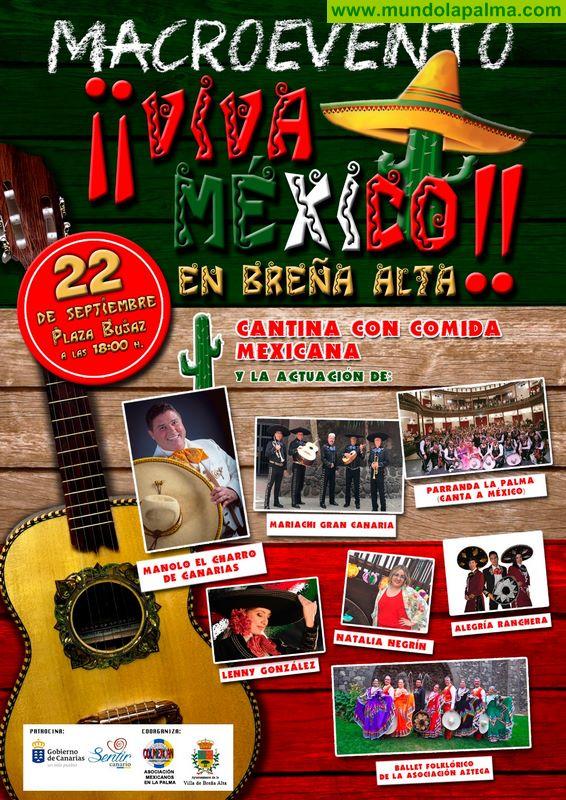 Breña Alta se une a la celebración de las 'Fiestas Patrias' con una jornada llena de cultura, tradición y gastronomía mexicana