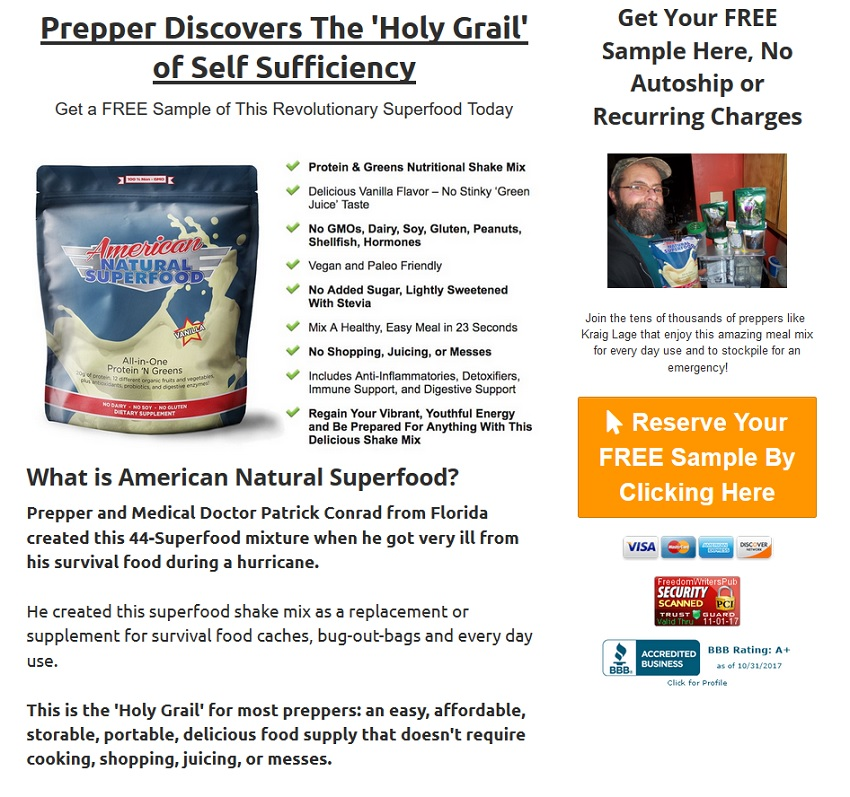 American Natural Super Food